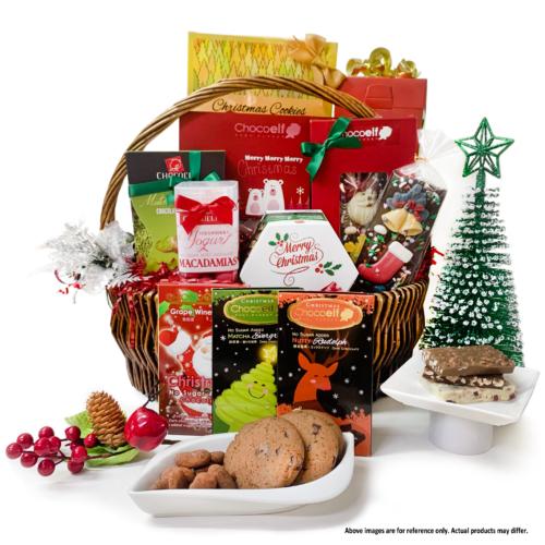 Chocoelf Christmas Gift Basket